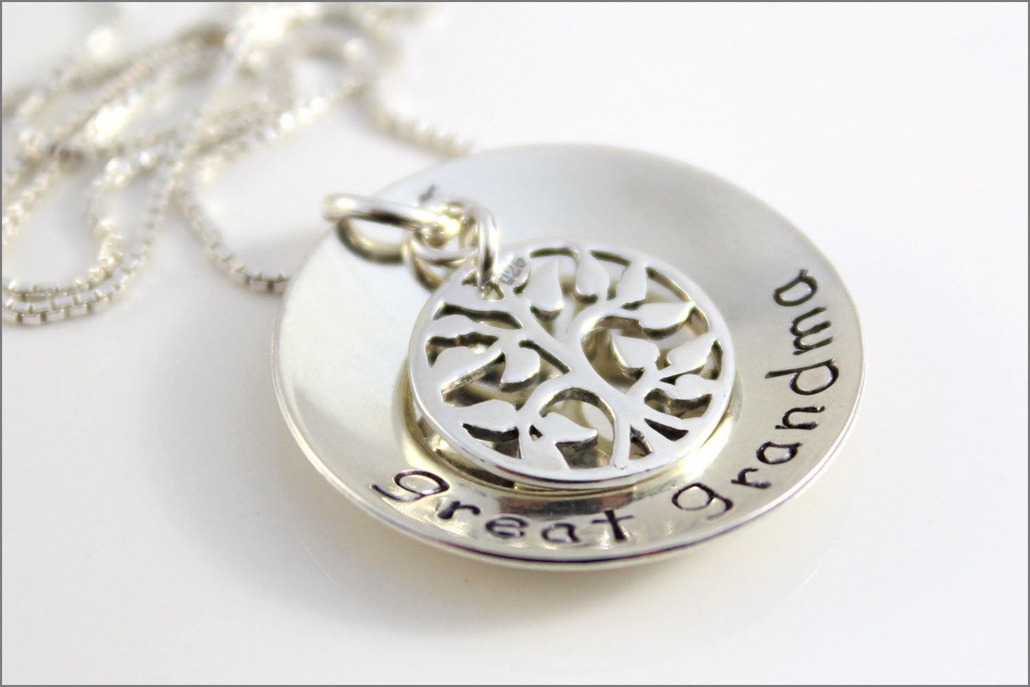 Great Grandma Necklace | Sterling Silver Tree of Life Charm