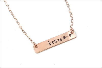 Personalized Inspiration Bar Necklace | Sterling Silver, Gold Filled, Rose Gold
