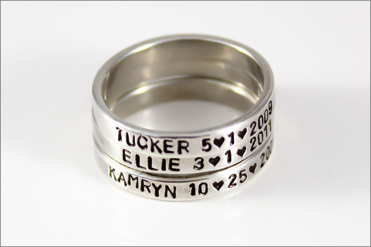Stackable Sterling Silver Mommy Ring | Personalized Silver Ring