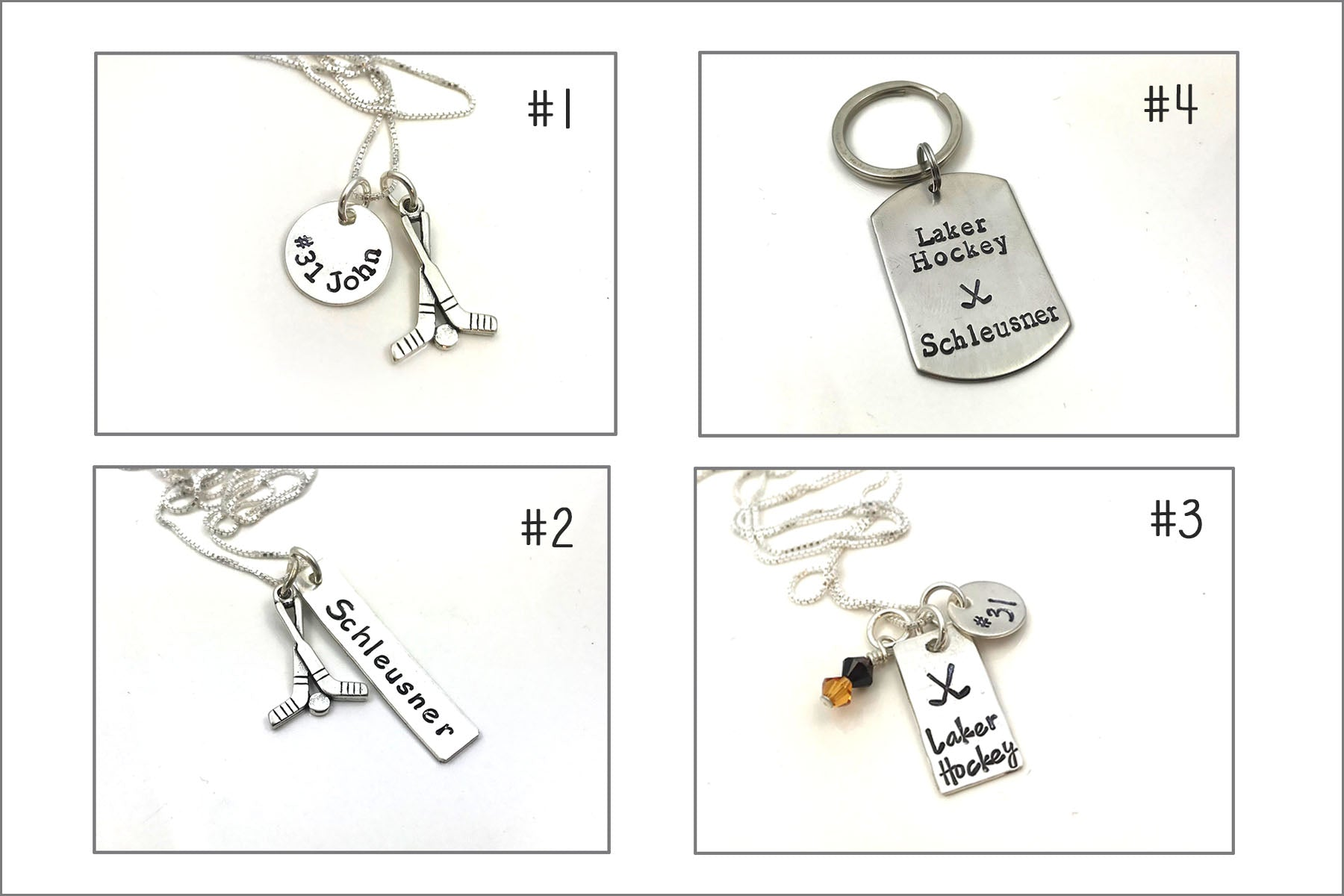 Custom Laker Hockey Mom Jewelry | Select Your Option