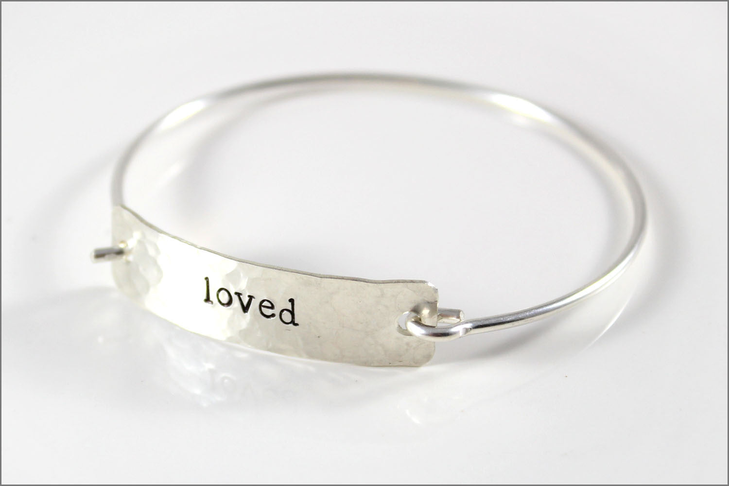 Custom Word Inspiration Bracelet | Sterling Silver Word Bracelet