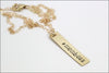 Personalized Vertical Bar Name Necklace | Sterling Silver, Gold Filled, Rose Gold