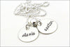 Sterling Silver Two Name Necklace | Personalized Two Disc Necklace
