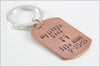 My Little Girl or Little Boy Keychain with Name & Birthdate | Dog Tag Keychain