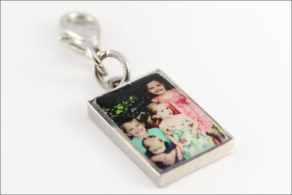 Photo Charm Accessory Add on to Necklace or Bracelet with Lobster Clasp | Your Picture as a Charm