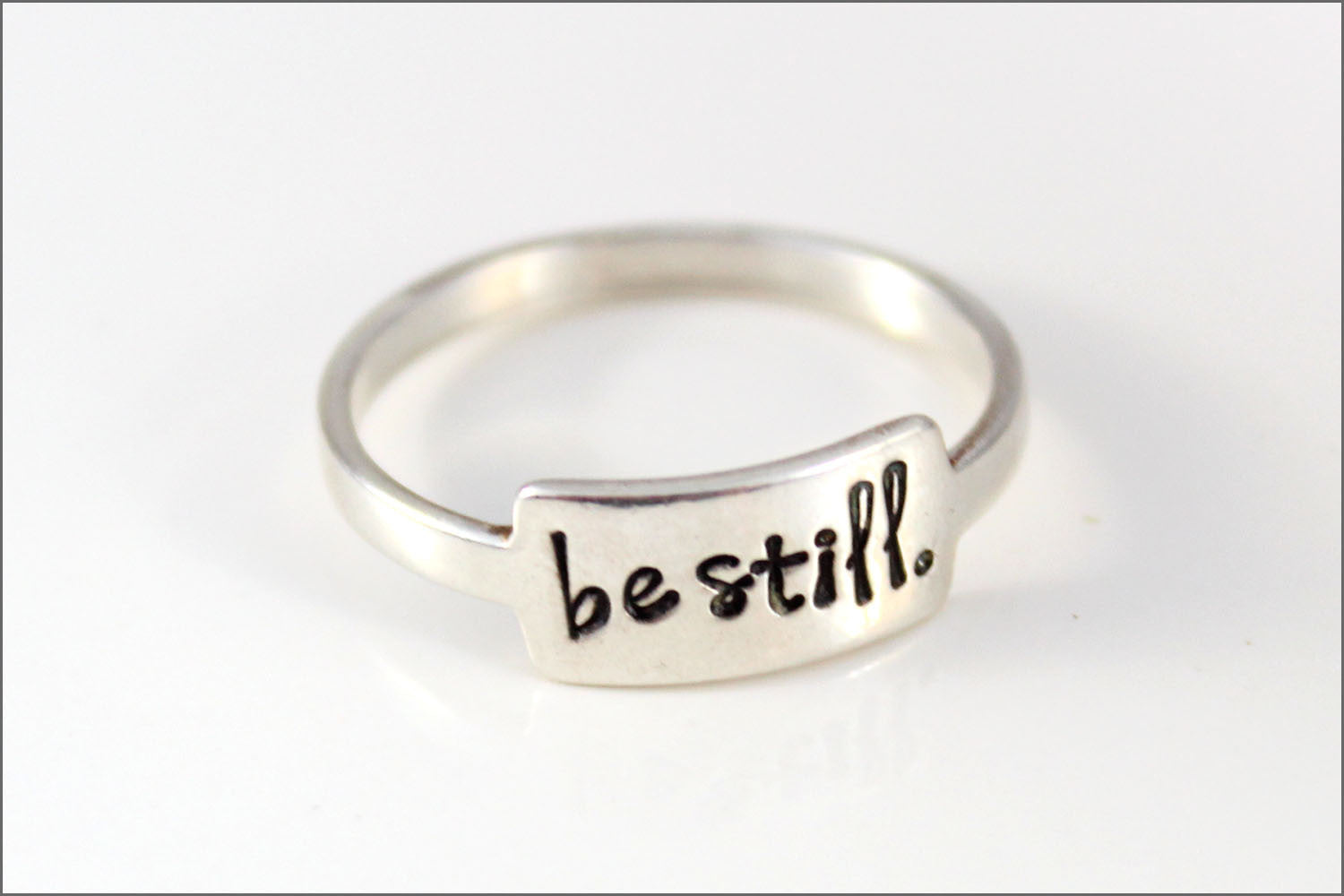 Custom Sterling Silver Ring | Be Still Jewelry