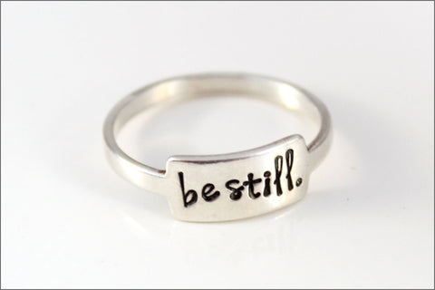 My Inspiration Ring in Sterling Silver | Custom Silver Ring, Silver Stacking Rings, Personalized Inspiration Jewelry