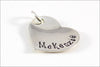Sterling Silver Heart Pendant | 3/4 Inch Stamped Heart, Personalized Name Pendant, Custom Date Pendant, Add On Sterling Silver Pendant