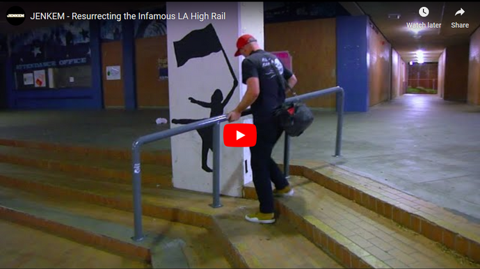 "Dan Corrigan in JENKEM'S ""Resurrecting the Infamous LA High Rail"" video"