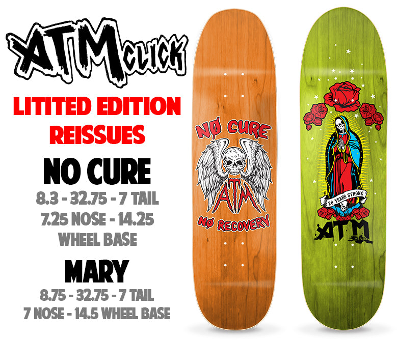 Limited ATM Reissue shaped decks out now!