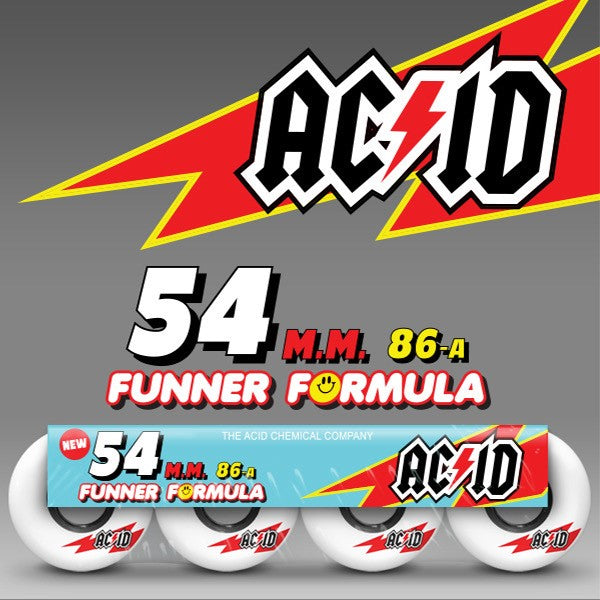 "NEW Acid 54MM/86A ""Skaterade"" wheels out now!"