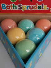 Load image into Gallery viewer, Bath Bomb Sprudels® - pack of 6 (Coral, Turquoise, Yellow, Orange, Green, Blue)