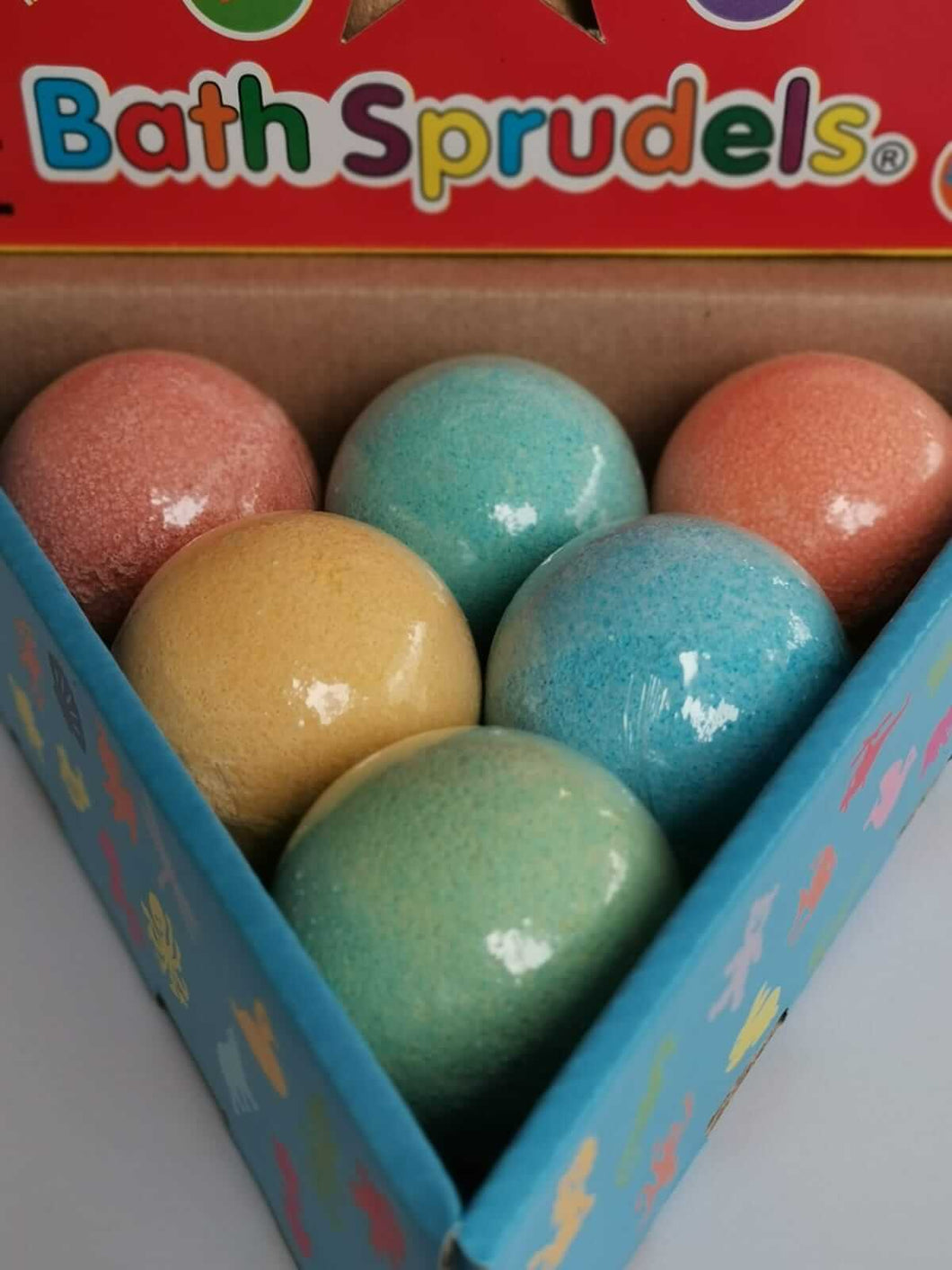 Bath Bomb Sprudels® - pack of 6 (Coral, Turquoise, Yellow, Orange, Green, Blue)