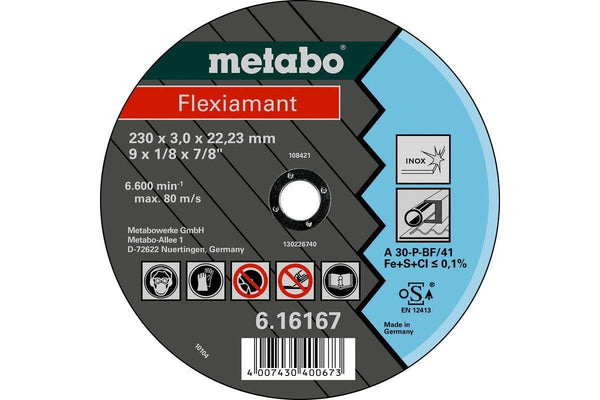 Metabo flexiament 180x3.0x22.23 INOX TF 41 - Verktoybua I Sandnes