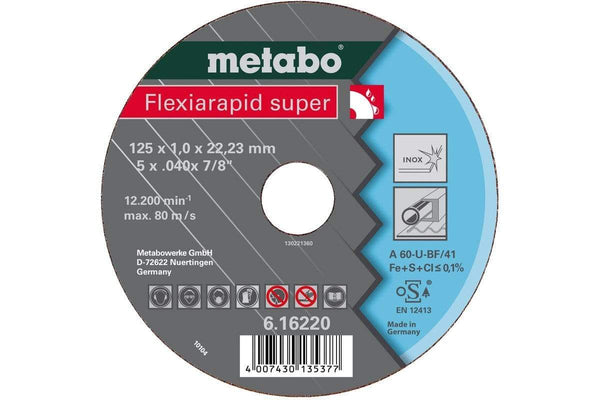 Metabo flexiarapid super 105x1.0x16.0 INOX TF 41 - Verktoybua I Sandnes