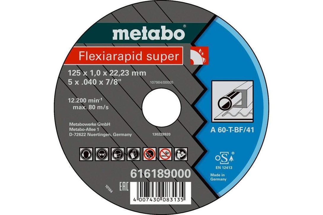 Metabo flexiarapid super 125x1.0x22.23 stål TF 41
