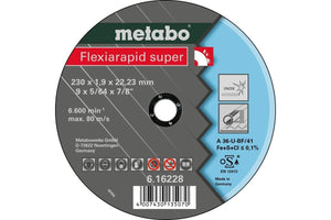 Metabo flexiarapid super 230x1.9x22.23 INOX TF 41