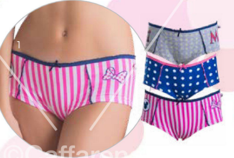 PACK 3 PANTALETA ALGODON MINNIE