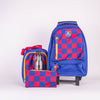 MOCHILA BLAU CHECKS SET 4 AZUL