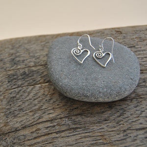 Earrings - Swirly Heart