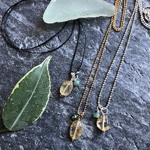 Citrine Necklace- Citrine+Aventurine