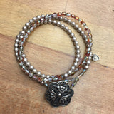 Angel Bracelet - silver and red