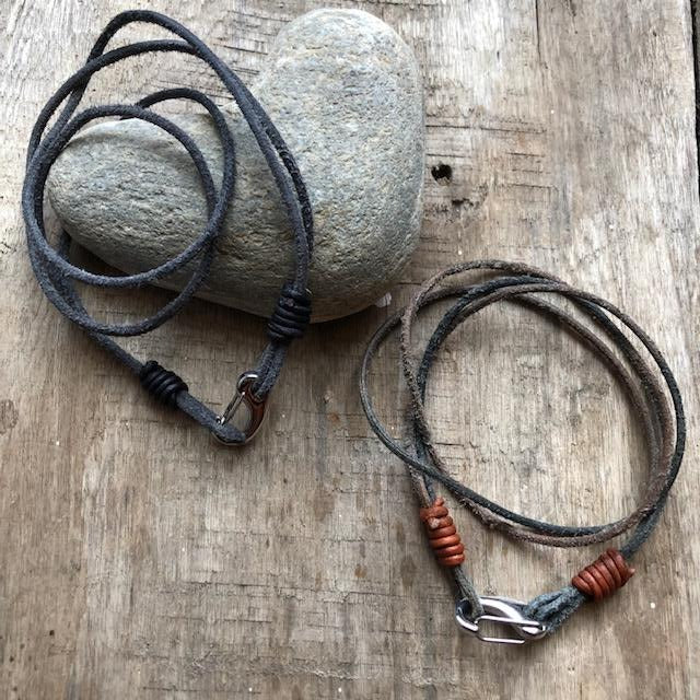 Men's Wrap Bracelet - Suede