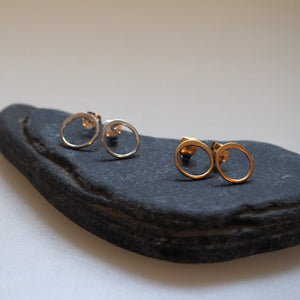 Earrings - Small Circles