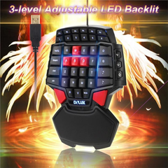 One Hand Single Wired USB Gaming Mini Keyboard