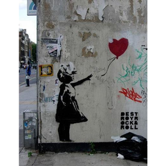 Slim Wooden Phone Case | Banksy Girl With a Balloon