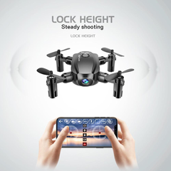 Midnight Black Remote WiFi Quadcopter Drone with 720P Wide Angle HD Camera