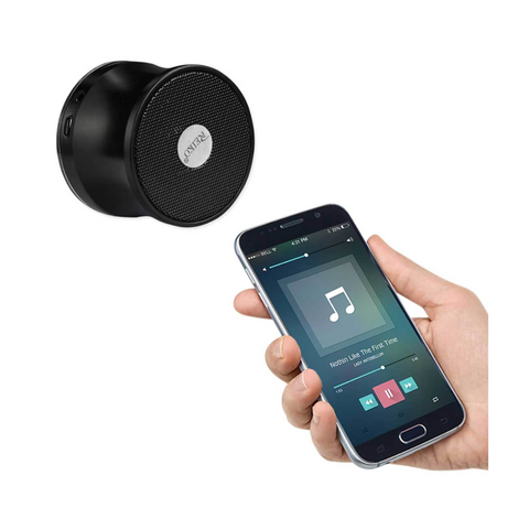 REIKO UNIVERSAL MINI BLUETOOTH SPEAKER IN BLACK