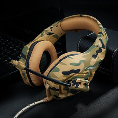 Army Style Wired Noise Canceling Gaming Stereo Headphone