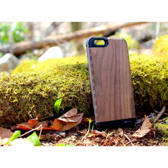 Ultra-Slim Wooden iPhone 7 Charging Battery Case