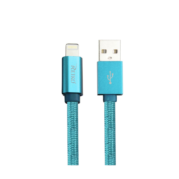 REIKO IPHONE 6 3FT LIGHTING CERTIFIED BRAIDED DATA CABLE IN BLUE