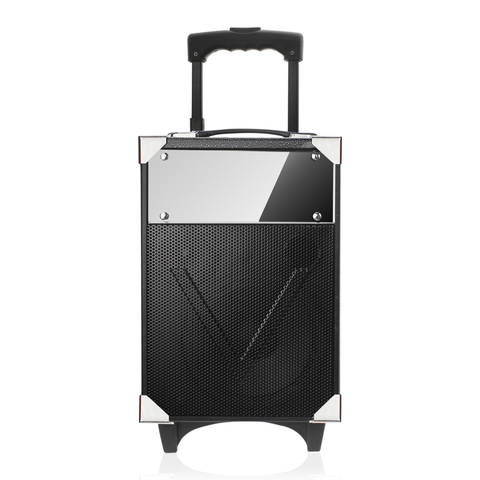 Universal Trolley Bluetooth Speaker Embedded With Control Panel In Black