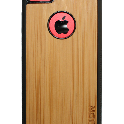 Slim Wooden Apple Cut-out Case