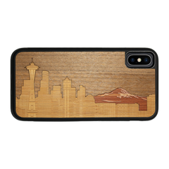 Slim Wooden Phone Case | Seattle Skyline Traveler