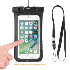 REIKO WATERPROOF CASE FOR IPHONE 6 PLUS/ 6S PLUS/ 7 PLUS OR 5.5 INCH DEVICES WITH WRIST STRAP IN BLACK