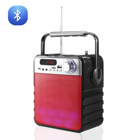 Universal Portable Boombox Bluetooth Multi-Color Speaker In Red