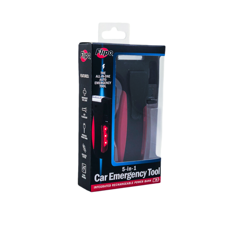 Black & Red 5 in 1 Car Emergency Tool