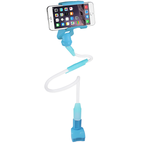 REIKO UNIVERSAL LONG FLEXIBLE ARMS PHONE HOLDER IN BLUE