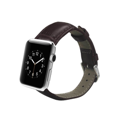 REIKO WATCH 42MM GENUINE LEATHER IWATCH BAND STRAP WITHOUT BAND ADAPTORS 38MM IN BROWN
