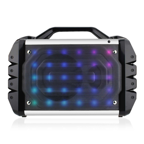 Universal Boombox Bluetooth Neon Colored Speaker In Black