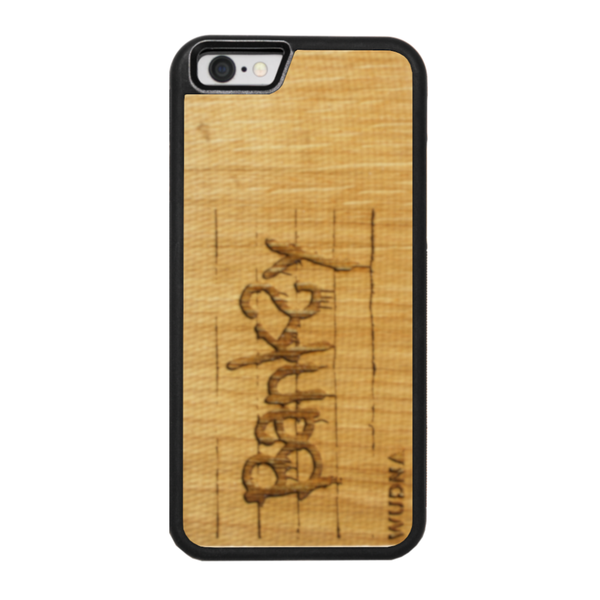 Slim Wooden Phone Case | Banksy Tag