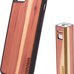 Slim Wooden iPhone Case & Lip-stick Wood Power Bank