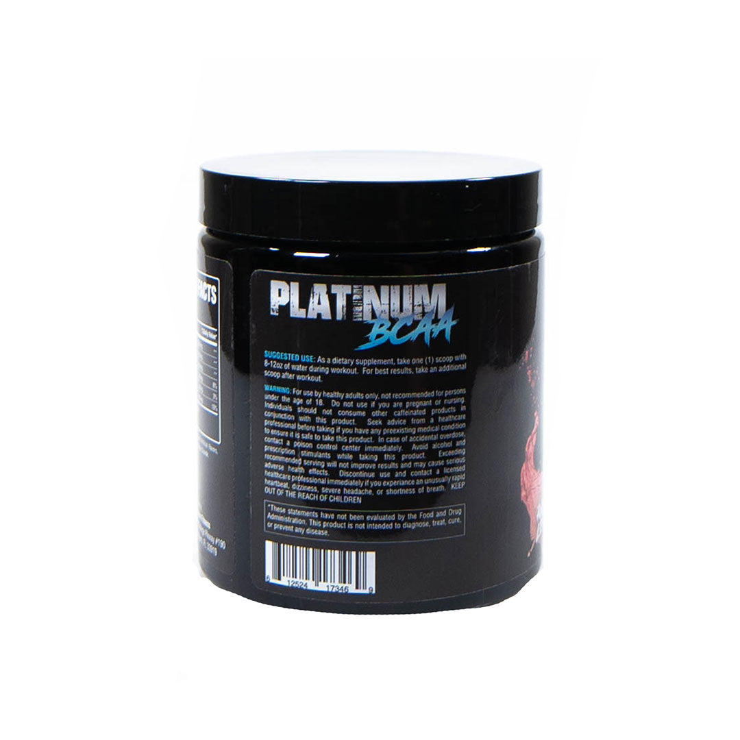 Platinum Fitness BCAAs Suggested Use Label