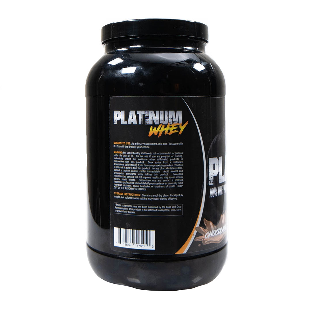 Platinum Fitness Chocolate 100% Whey Protein Isolate (Back)