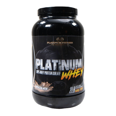 Platinum Fitness Chocolate 100% Whey Protein Isolate (Front)