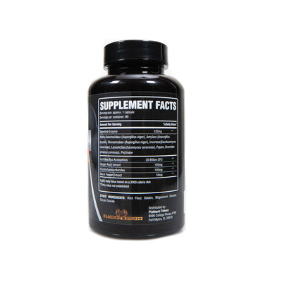 Platinum Fitness Gut Check (Supplement Facts)